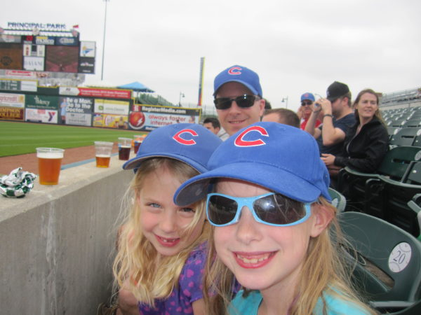 Watching the Iowa Cubs play in Des Moines