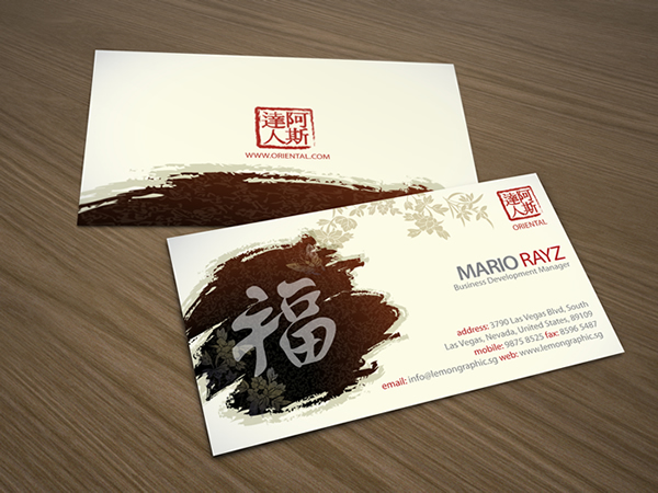 Oriental China Business Card – Lemon Graphic Singapore
