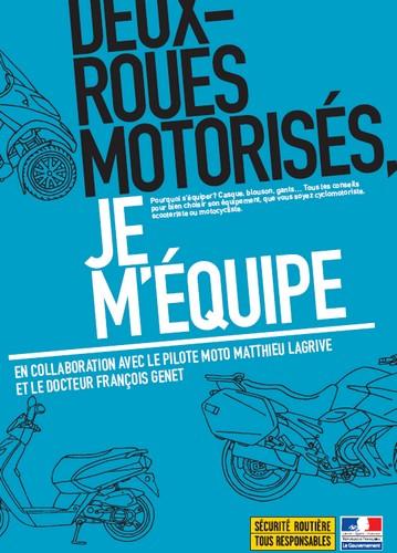 Flyer plutôt bien réalisé pour promouvoir l'équipement à moto. Deux simple flyers sur ces 5 dernières années, voilà pour ce qui est de la sensibilisation.