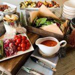 Build your own Roasted Vegetable Salad Bar set up