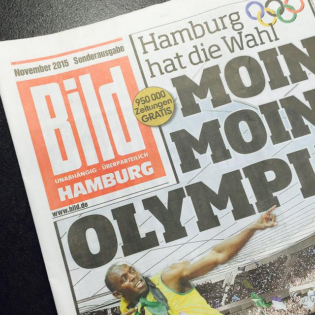 Vor einem Jahr rührte BiLD die Werbetrommel für Olympia in Hamburg. Jetzt rührt sich nichts mehr