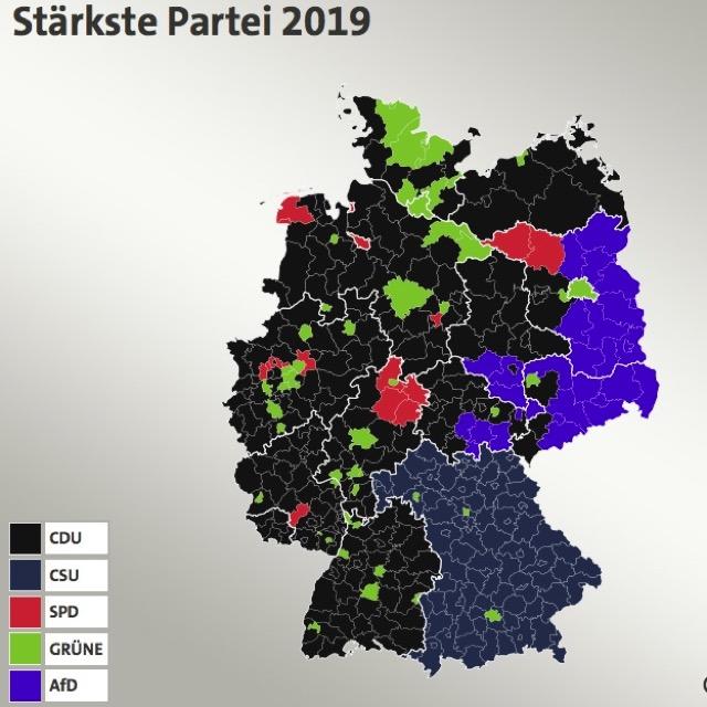 Europawahl 2019. Parteien