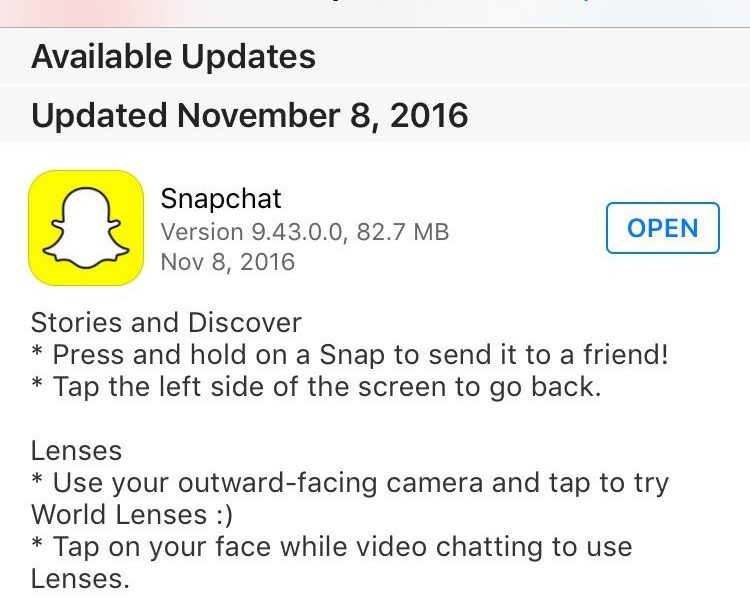 Snapchat Update 9 43 Adds Outward Facing Lenses – Lemon Productions
