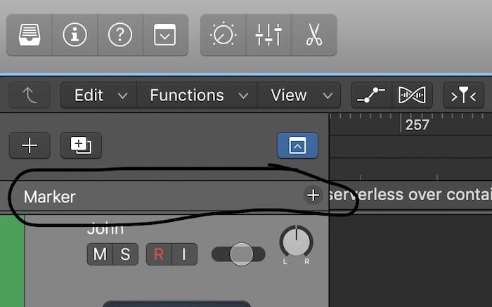 Adding a Marker inside of Logic Pro X