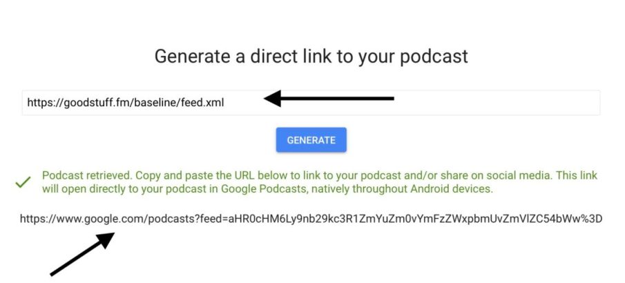 Google Podcast Publisher Preview dev tool