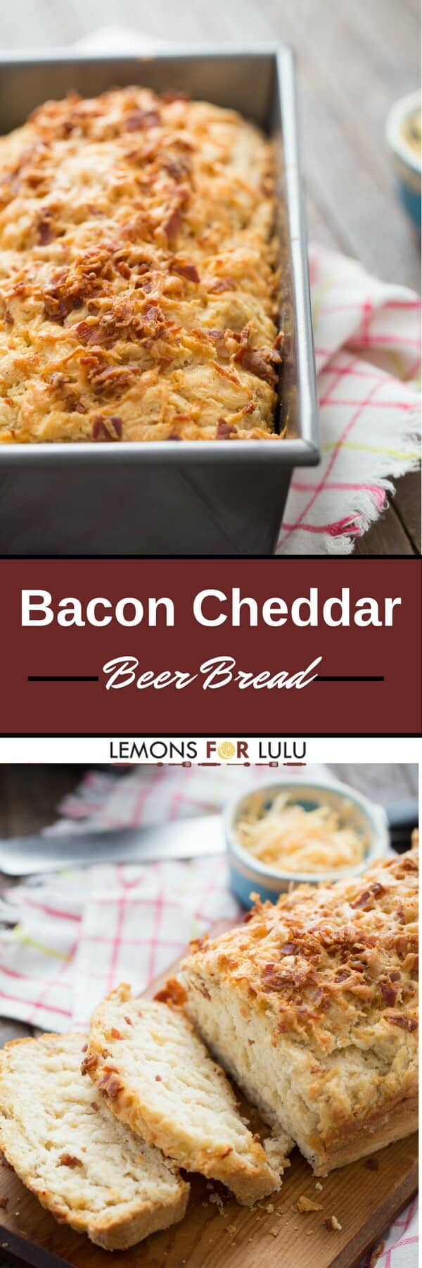 Love beer, bacon and cheese? So do I! That's why this easy beer bread recipe is one of my favorites. It's simple, soft and so delicious!