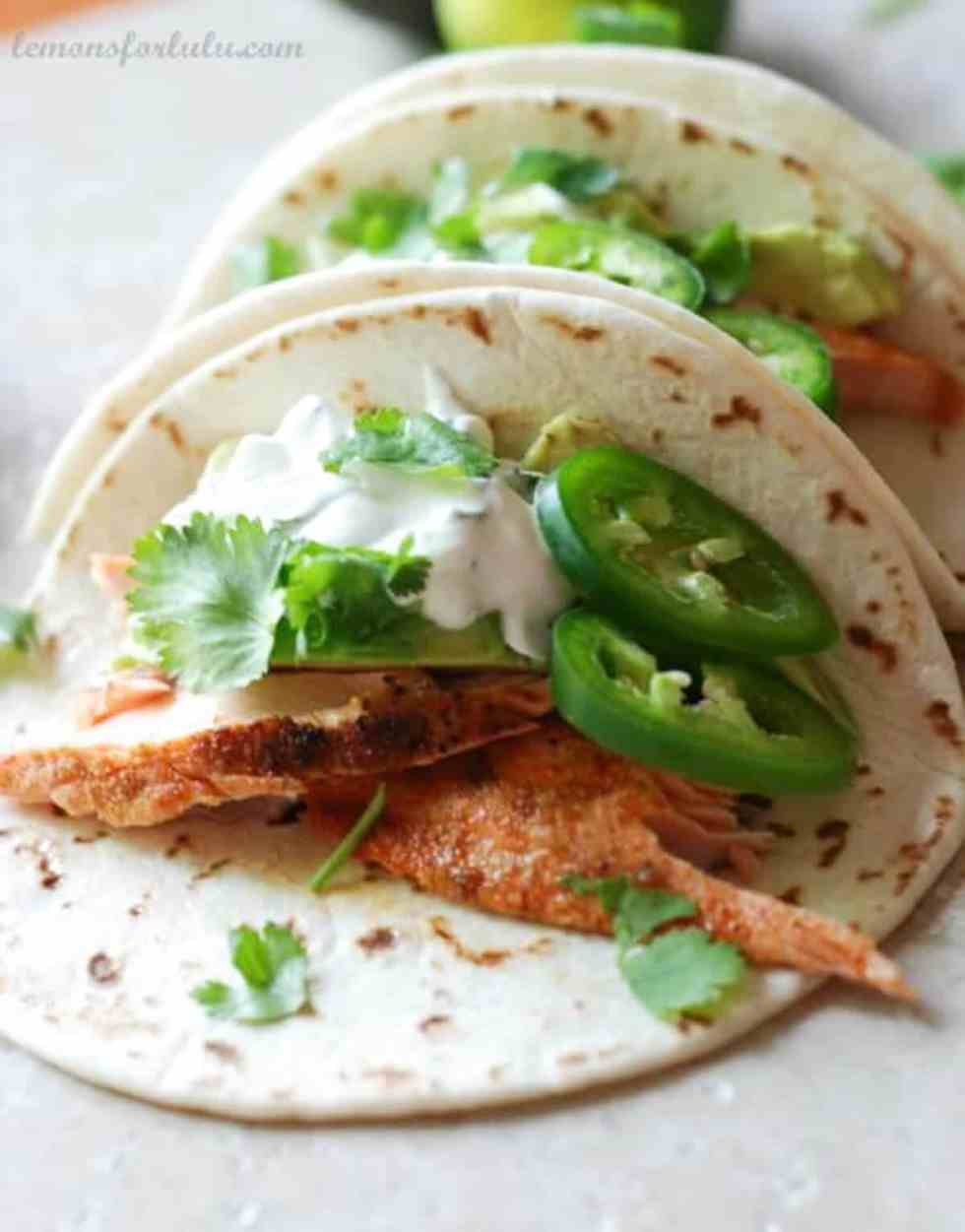 Salmon Fish Tacos {Lemons for Lulu}
