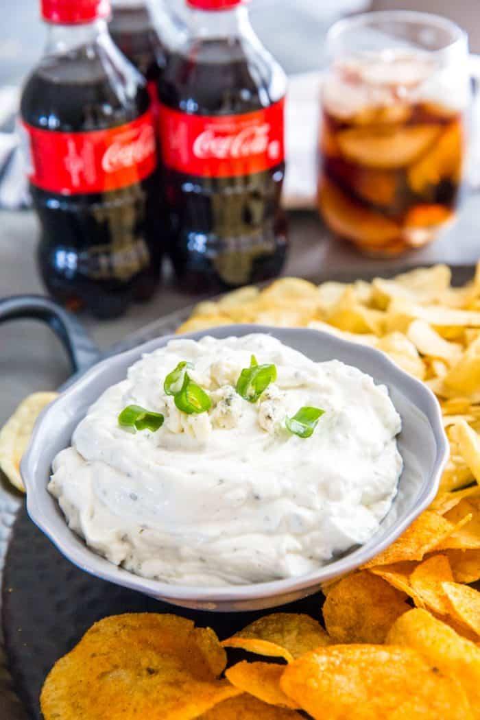 Blue Cheese Dip gray bowl