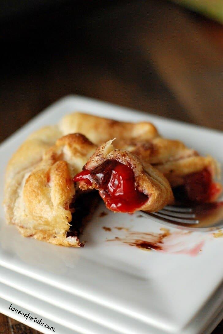 Chocolate Cherry Pie Bundles www.lemonsforlulu.com