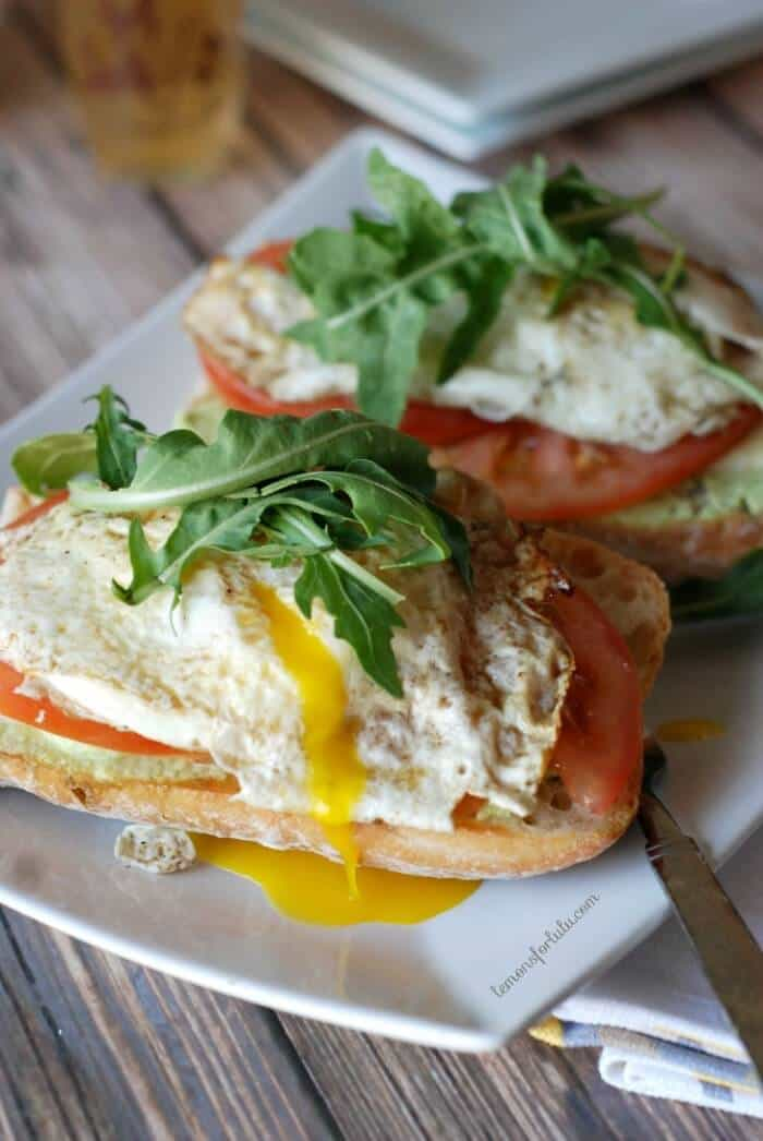 Open Faced Fried Eggs and Edamame Sandwich 3
