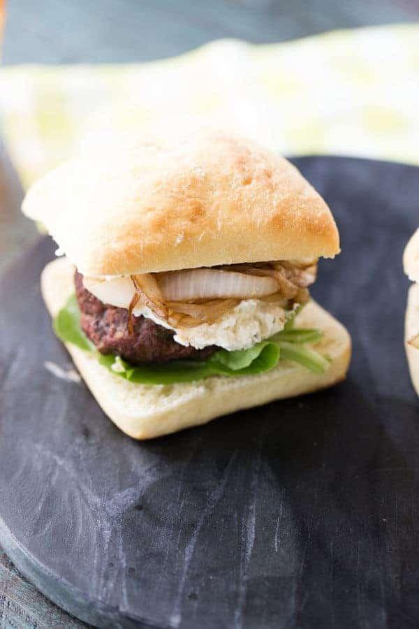 Boursin cheese makes this easy cheeseburger recipe outstanding! The caramelized onions and savory beef patty are tasty accomplices! lemonsforlulu.com