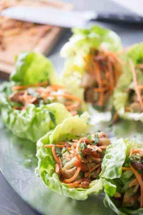 Chicken Lettuce Wraps {Lemons for Lulu}