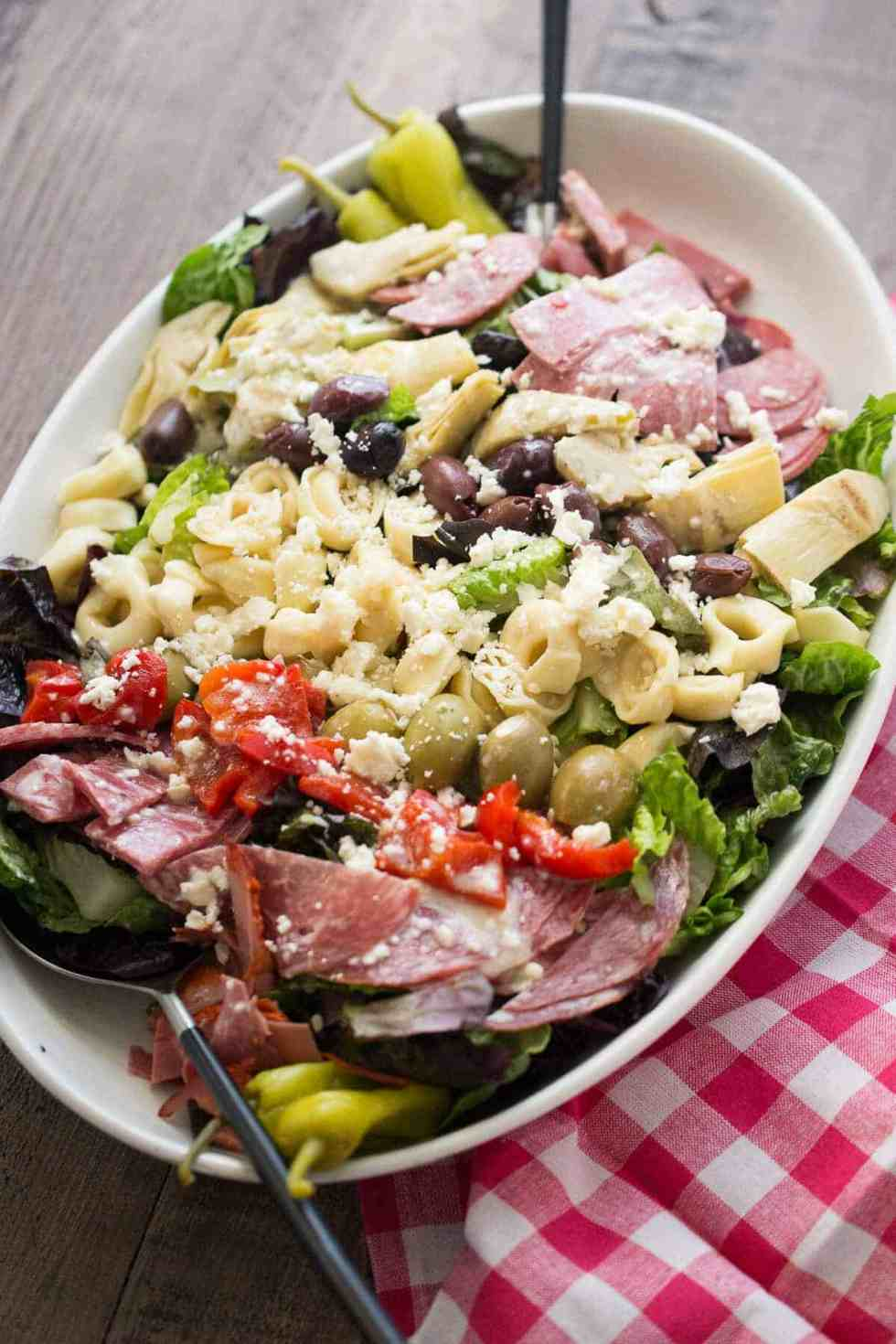 Italian Salad with Tortellini {Lemons for Lulu}