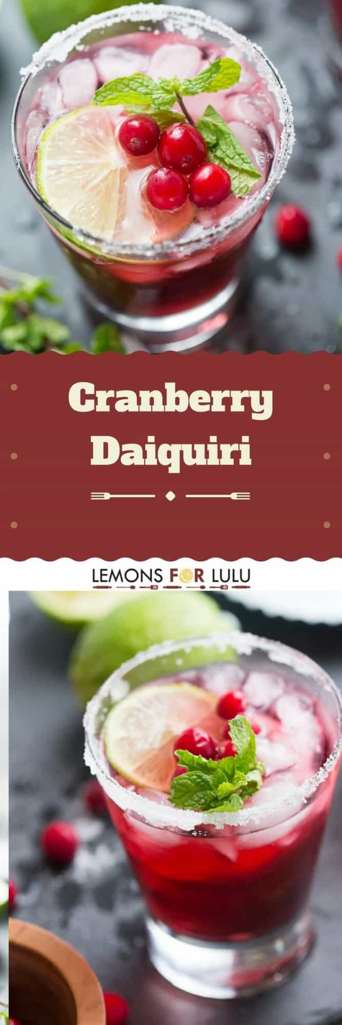 Want to liven up your party? Serve up this cranberry daiquiri for a unique and festive cocktail!
