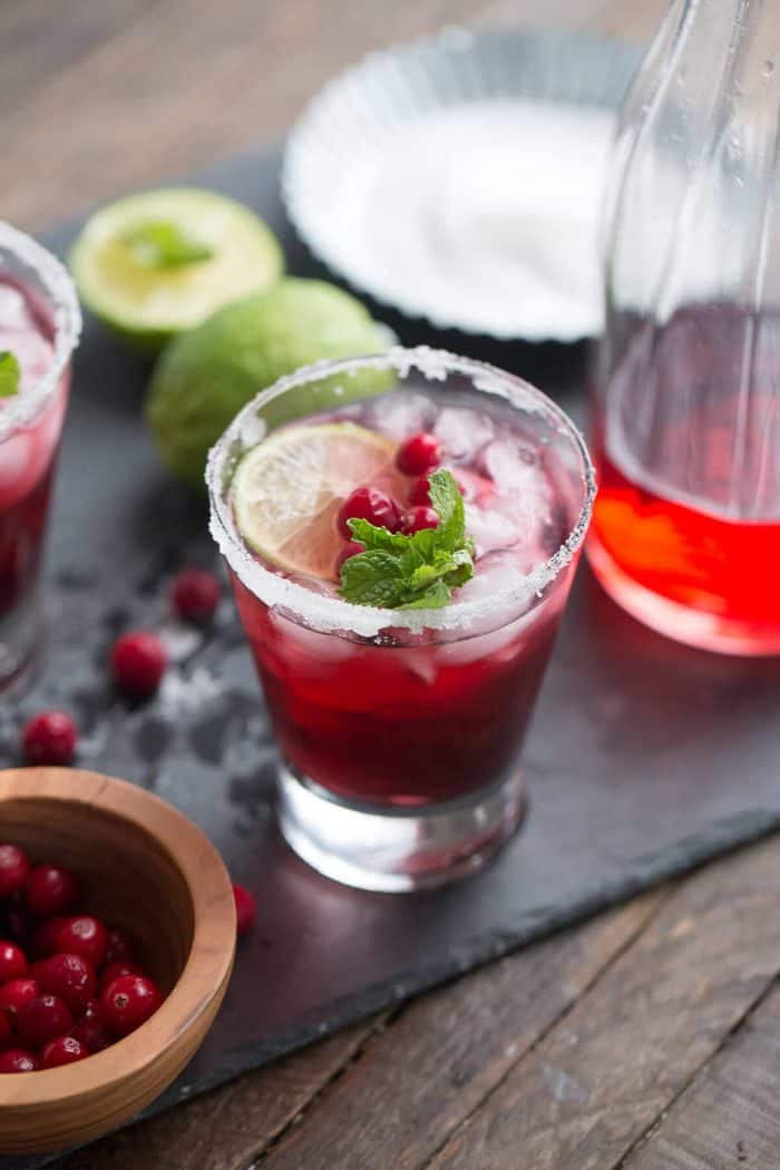 This daiquiri is unique and delicious! The fresh cranberry garnish is a musth!