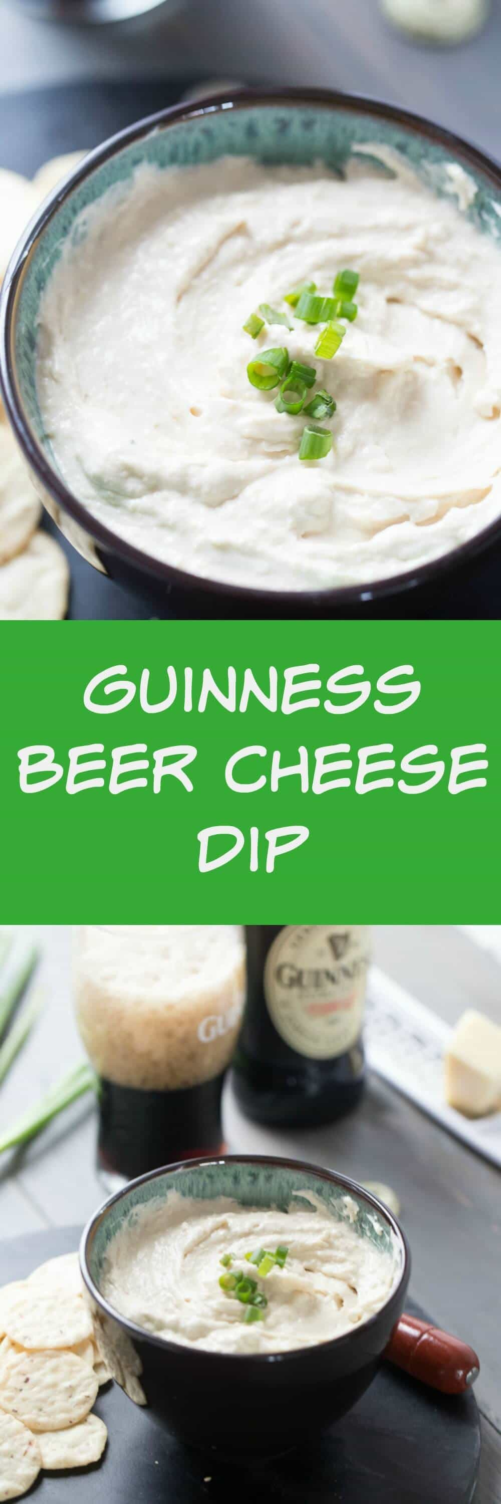 This Guinness beer cheese dip has a subtle stout flavor that glances the sharp white cheddar. This appetizer dip is creamy and smooth and altogether delicious!