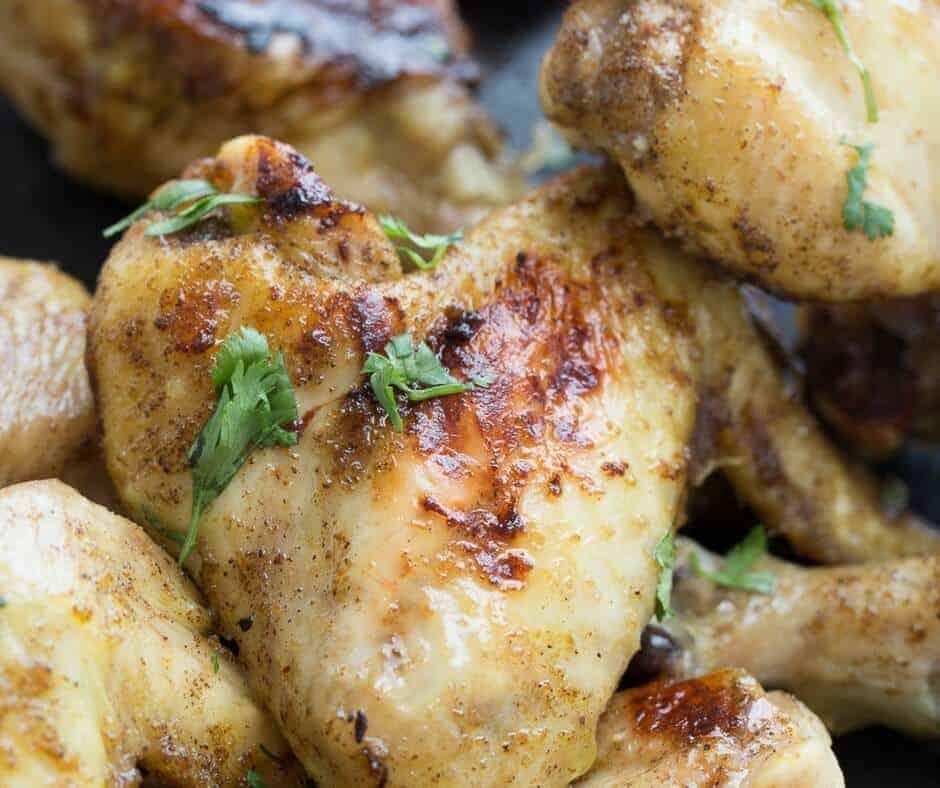 Close up of a chicken thigh