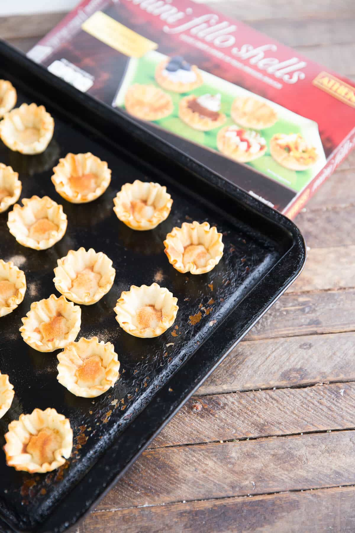 Fruit salsa in portable little phyllo cups!