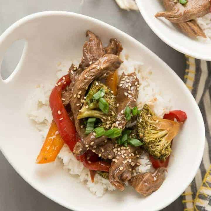 Saucy ginger beef is easy when made in the slow cooker! This easy recipe has This easy recipe has amazing flavor the whole family will love!