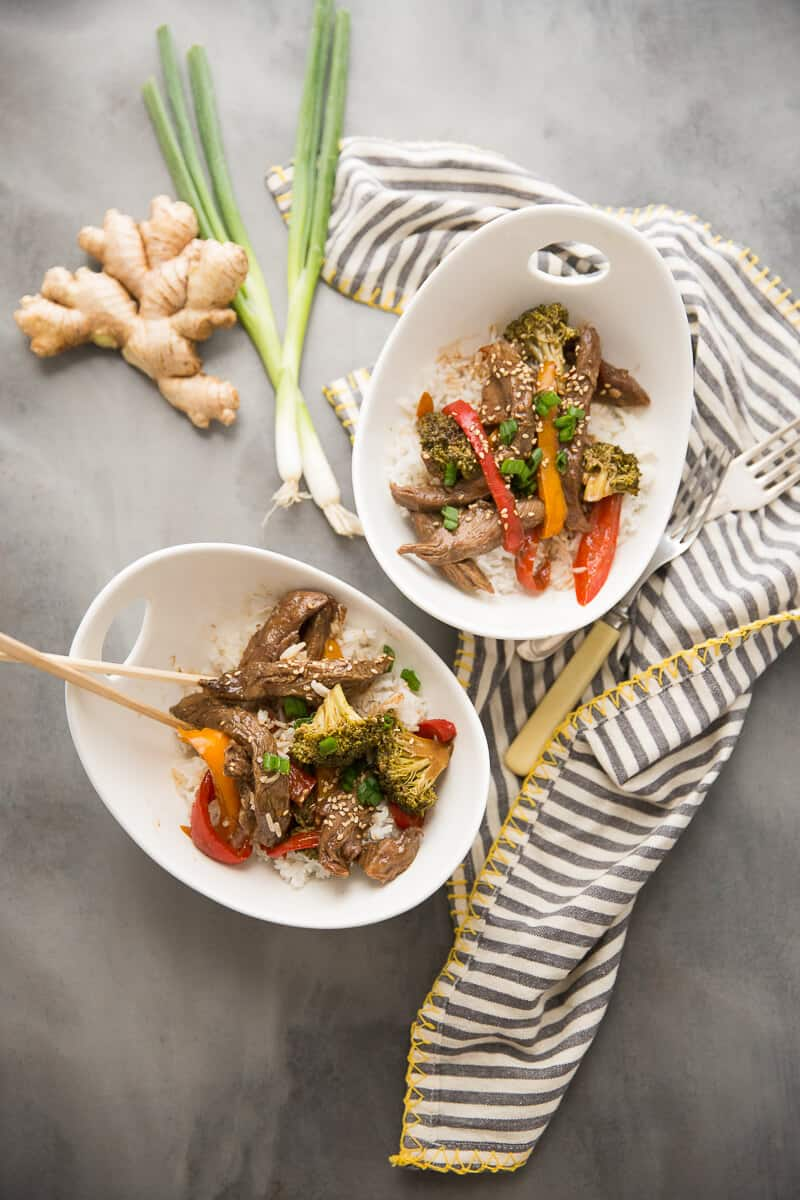 Saucy ginger beef is easy when made in the slow cooker! This simple recipe has amazing flavor the whole family will love!