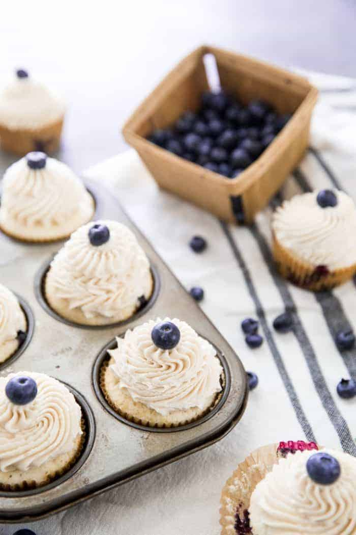 Blueberry Cupcakes One cupcake image