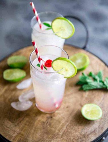 Cherry vodka lemonade two