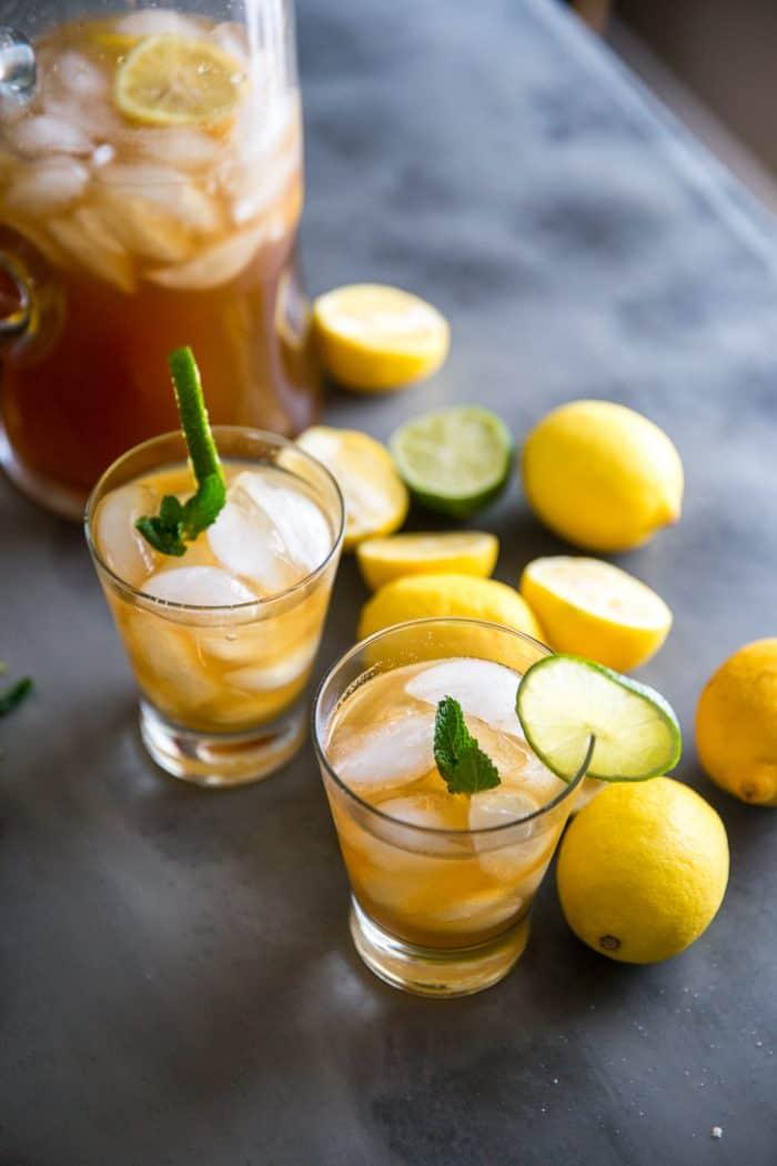 Iced Tea Recipe in a pitcher