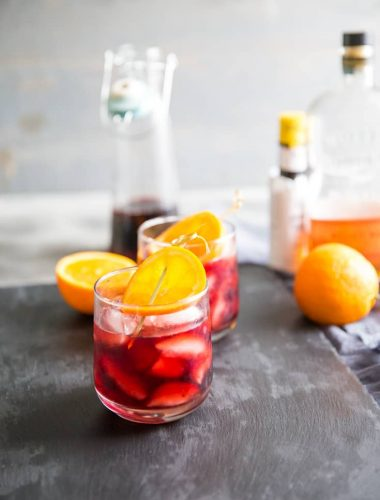 Old Fashioned Cocktail Recipe two glasses