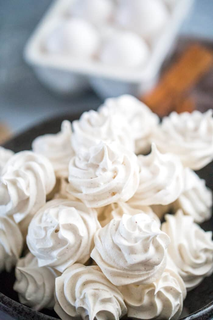 meringue cookies up close