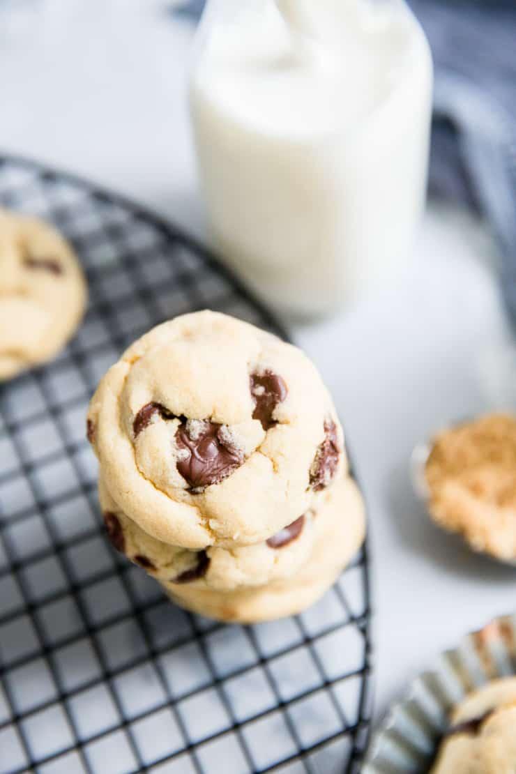 brown sugar cookies with milk
