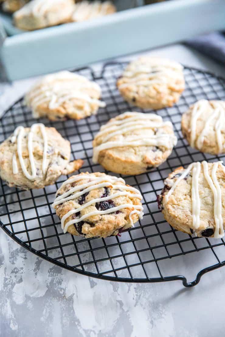 glazed blueberry scones