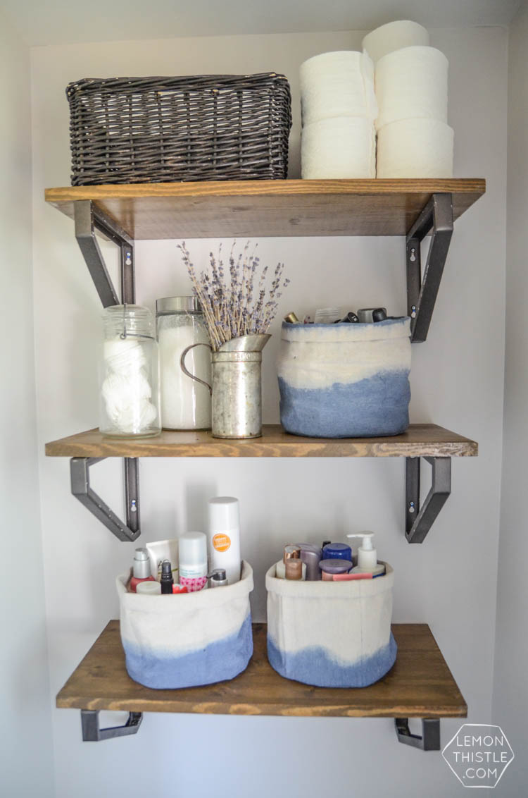 DIY Dip Dye Cloth Baskets Bathroom Organization  Lemon Thistle