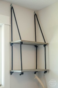 DIY Hanging Shelves (and Farewell Office) - Lemon Thistle
