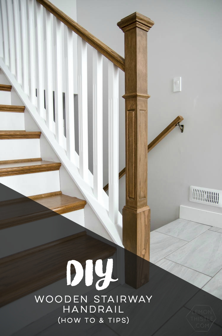 How To Install A Wooden Handrail On Split Level Stairs Lemon Thistle | Attaching Handrail To Wall | Stair Parts | Brick | Wood | Staircase | Scr*W