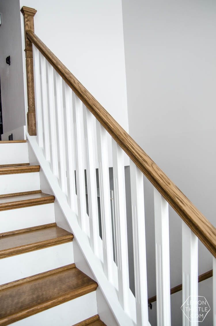 How To Install A Wooden Handrail On Split Level Stairs Lemon Thistle | Diy Metal Stair Railing | Outdoor | Exterior | Beginner | Indoor | Metal Baluster Drywall