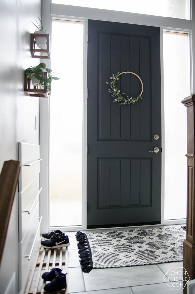 lemon kitchen rug lighting for kitchens a diy split level entry makeover: before & after - ...