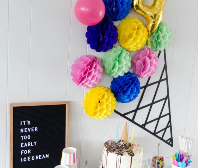 A Modern Diy Ice Cream Party The Perfect Kids Birthday Party Plus Its