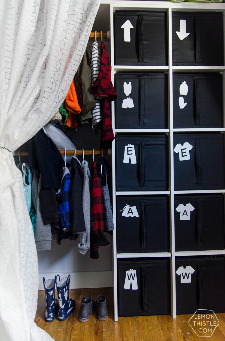 Diy Closet Organization Ikea Storage Bin Labels Lemon Thistle