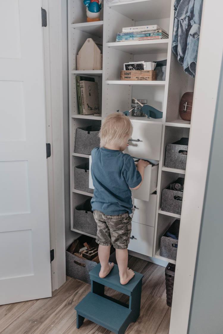 Kids Closet Organizer How We Organize A Shared Closet Lemon Thistle