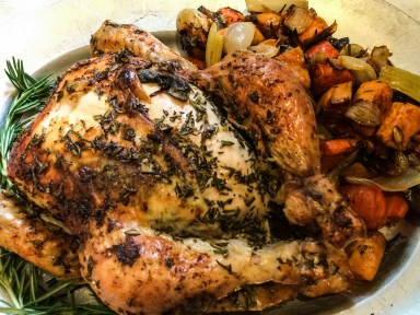 Lemon and Herb Roast Chicken: A Warm Blanket on a Cold Evening
