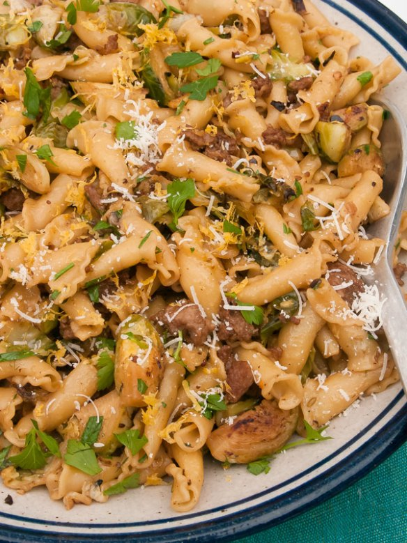 Pasta Dinner with Brussels Sprouts and Pasta