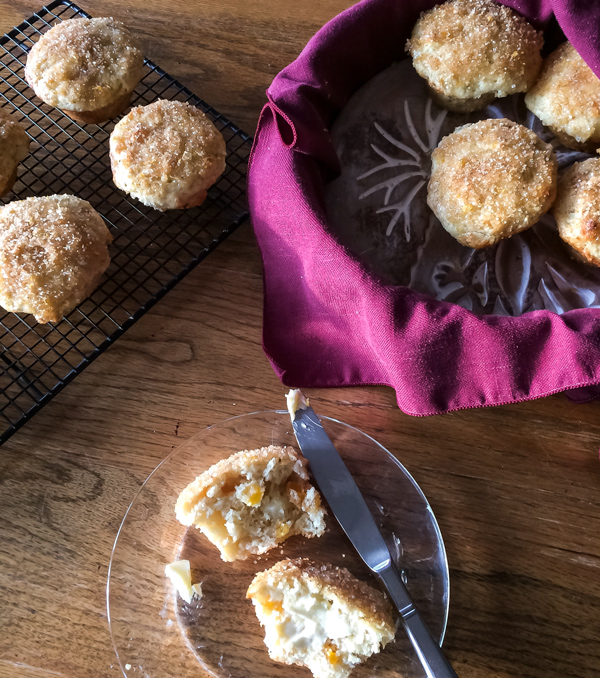 Apple Muffins with Lemon Glaze - Lemon Thyme and Ginger