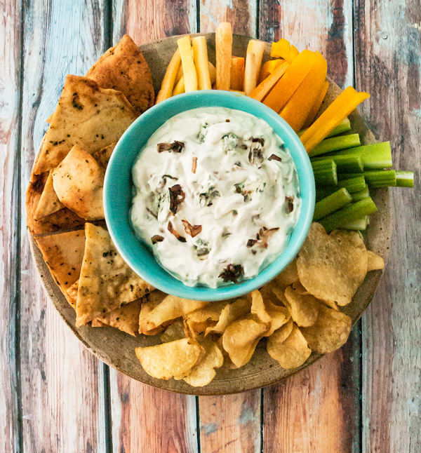 Blue Cheese Dip with Caramelized Shallots