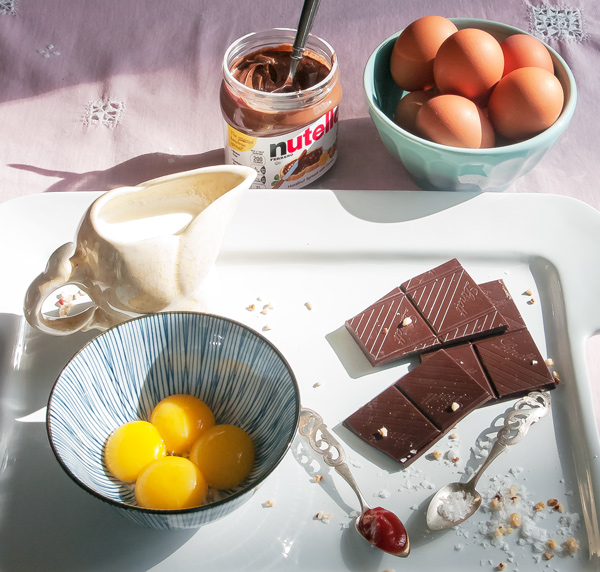 Chocolate Nutella Pots de Creme reicpe