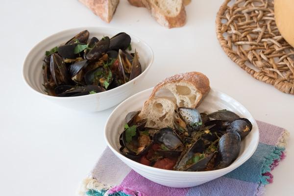 Spanish Inspired Mussels with Chorizo Recipe