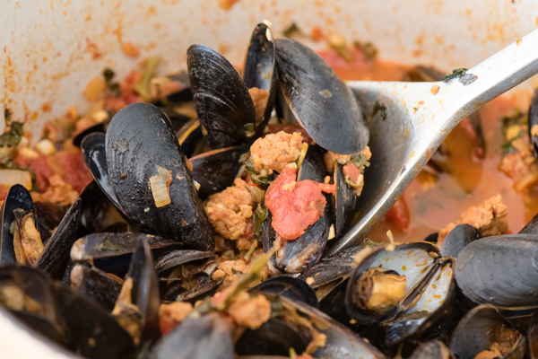 Spanish Inspired Mussels with Chorizo Recipe