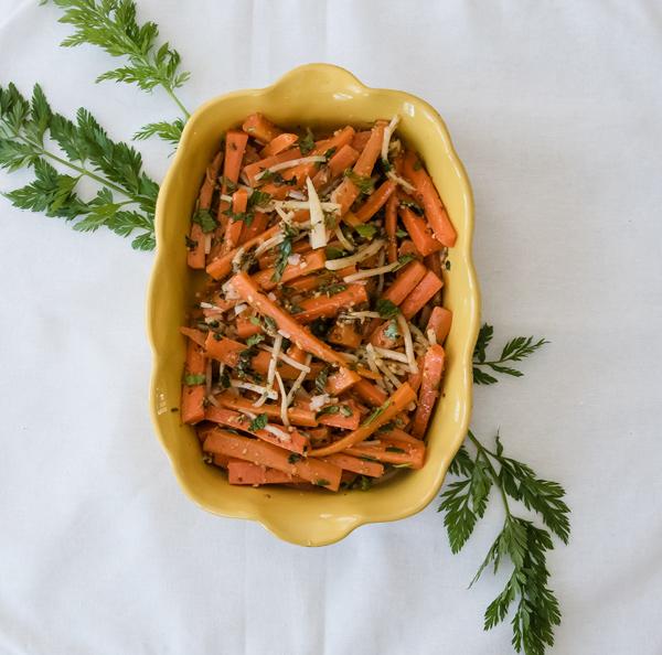 Sweet n' Spicy Herbed Carrots