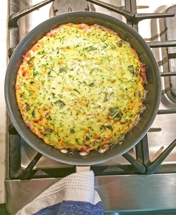 Zucchini and Basil Frittata Recipe