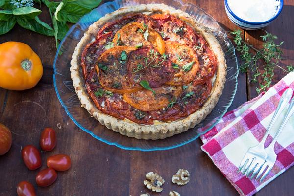 Tomato Tart with Ricotta and Mediterranean Seasoning