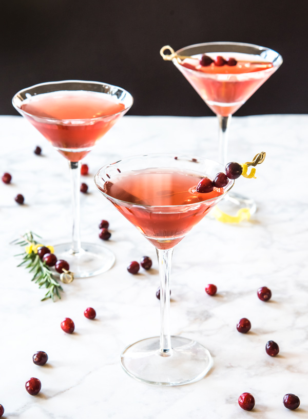 Spiced Cranberry Vodka Cocktail recipe